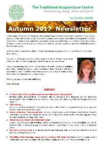 Front page of Autumn 2017 Newsletter